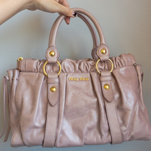 831cd07096f0 MIU MIU Vitello Leather Satchel in Dusty Pink. M 5b06be843800c5a6593e2a85.  Other Bags ...